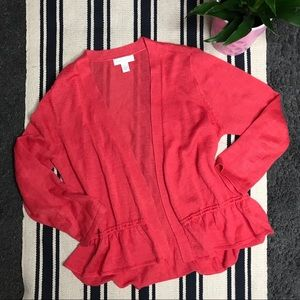 Charter Club Coral Cardigan Size M